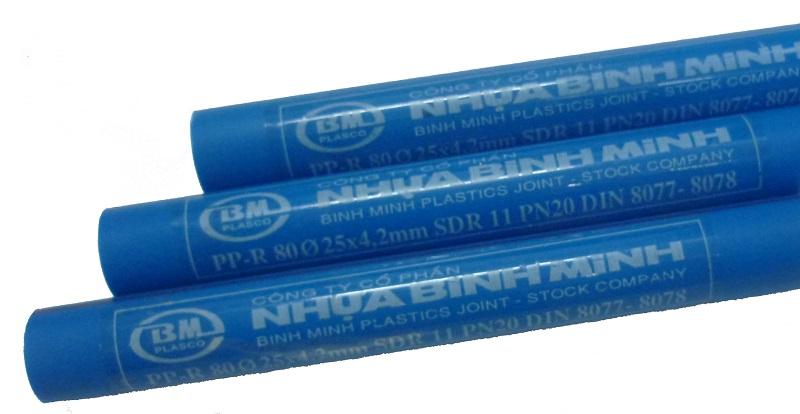 ống nước nóng chịu nhiệt PPR Bình Minh Phi 25