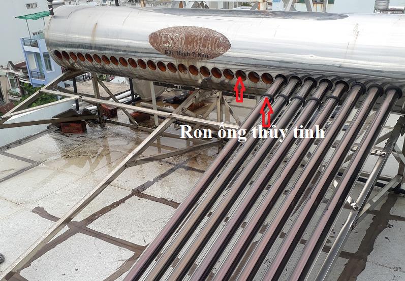 ron ống thủy tinh nước nóng năng lượng mặt trời